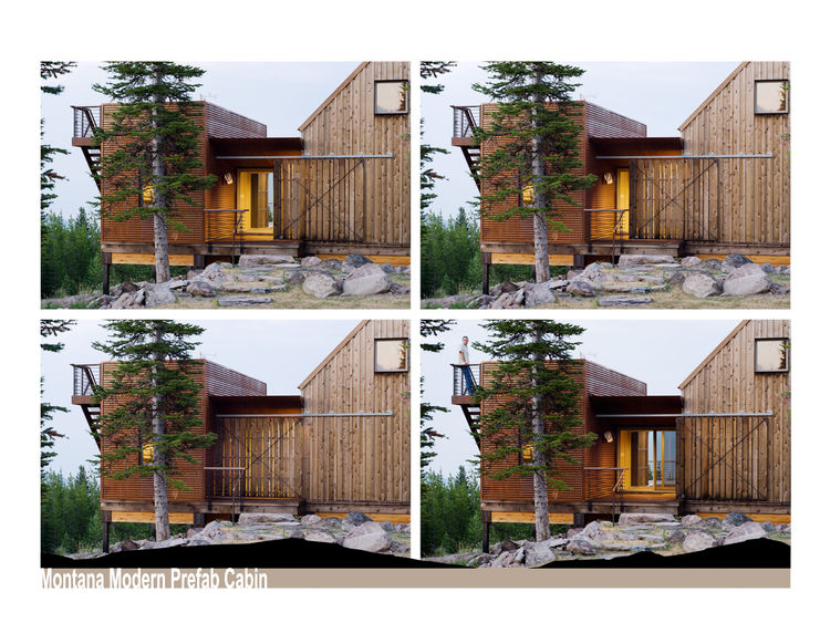 Montana Modern Prefab Cabin<br /><br /> Submitted by: Intrinsik Architecture Inc.<br /><br /> Designer's Description: <br /><br />The cabin's remote location, extreme snow demands, wildlife interaction and the desire to keep all trees on site intact, cont