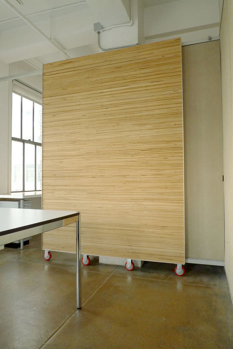 Strata Door<br /><br /> Submitted by: ESE Design<br /><br /> Designer's Description: <br /><br />We needed separation between the private office and the conference area in our design studio. We wanted the surface of the door to tackable, since it accounts