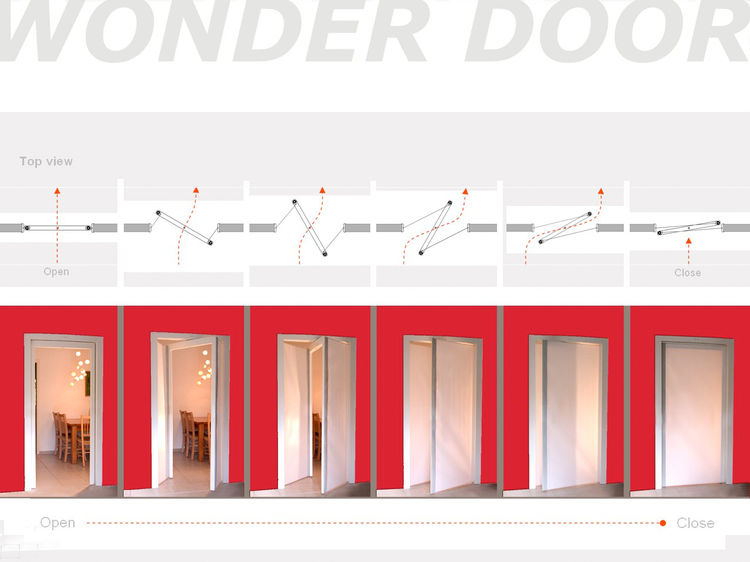Wonder Door<br /><br /> Submitted by: Name not provided<br /><br /> Designer's Description: <br /><br />Traditionally doors were looked upon as a means to prohibit or allow entry between two spaces. This Project's focus is on functionality and the influen