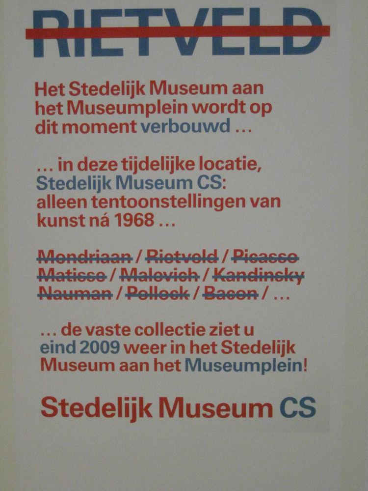 """Mannschaft. Poster for """"Rietveld,"""" 2007."""