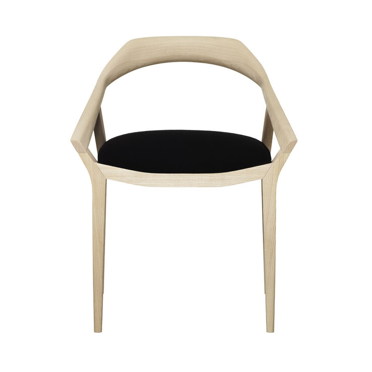 Swedese's second chair to make the list is by Swedish designer Monica Förster, who has clearly been very busy, with many new pieces on display at the stands of different furniture and lamp makers this year.  The Antelope chair was a favorite. Mirroring th