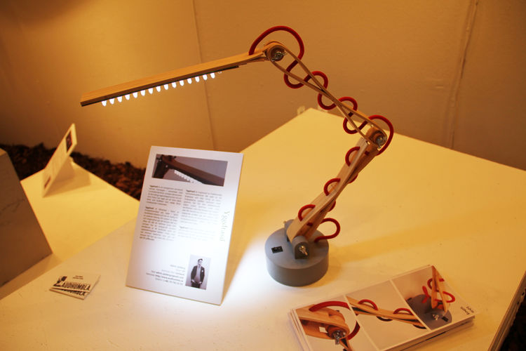 "Yggdrasil, an LED lamp by Gotlund University student <a href=""http://www.audhumbla.se"">Edvin Sjoberg</a>."