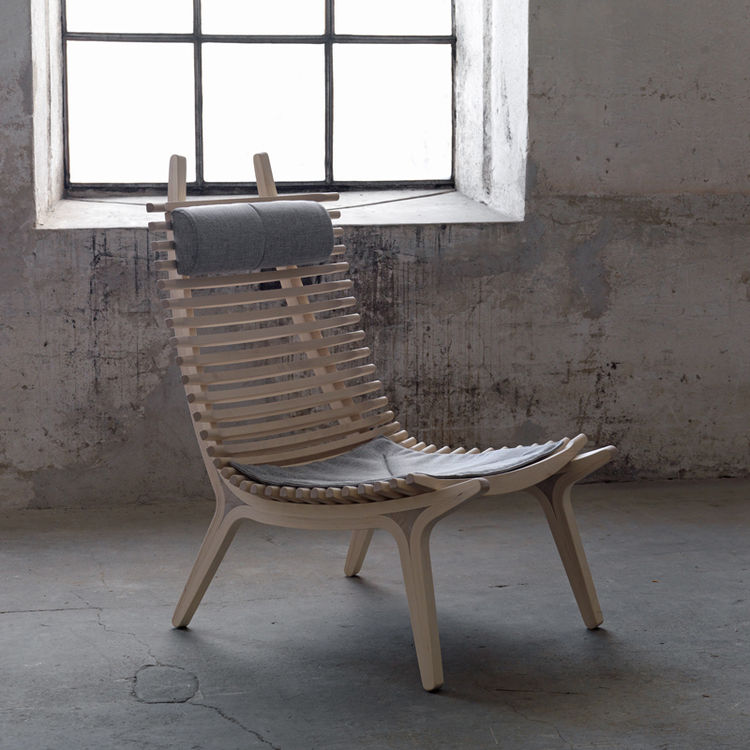 Gulin was particularly clever with the headrest, as It simply affixes between any of the two slats. We found the chair to be most comfortable when the headrest was used lower on the frame for lumbar support. IBBI is made of birch and comes in nine differe