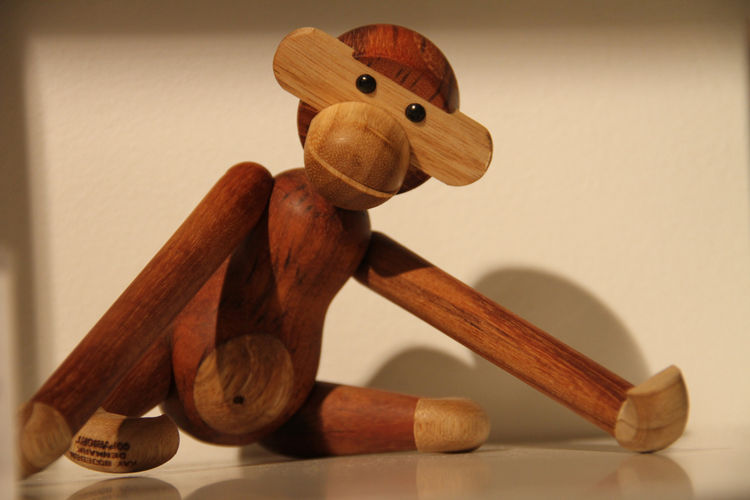 "Couldn't resist—Monkey, by Kaj Bojesen, created for <a href=""http://www.rosendahl.com/Products.aspx?ProductID=39260&VariantID="">Rosendahl</a> in 1951. Spotted on the shelves at Asplund."