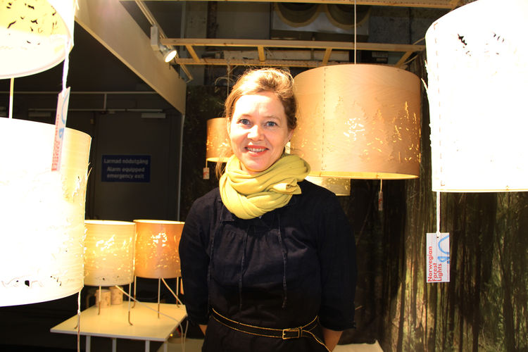 """Oslo–based <a href=""""www.cathrinekullberg.com/"""">Cathrine Kullberg</a>, whose blond-birch Norwegian Forest lamps have become a Scandinavian mainstay since she debuted them in 2007."""