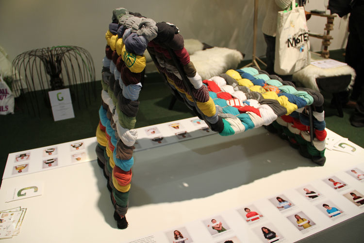 """Designer <a href=""""hhttp://www.mariawesterberg.se/"""">Maria Westerberg</a> won the 2011 <a href=""""http://greenfurniture.se/award"""">Green Furniture Award</a> for her T-Shirt Chair, which she created as her final student project at Konstfack in Stockholm."""