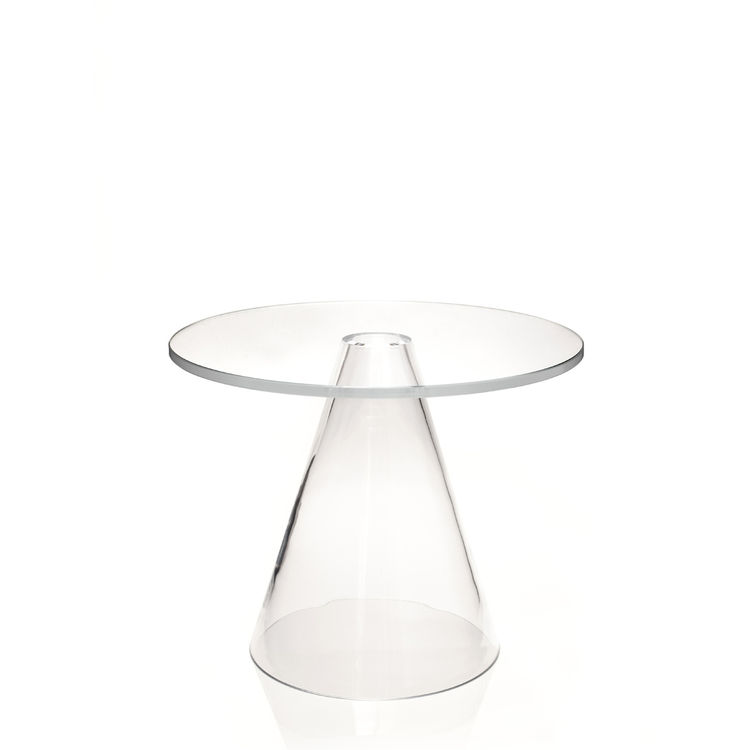 "<a href=""http://www.massproductions.se/"">Massproductions</a> celebrated its one-year anniversary by launching a side table made entirely of glass.  According to designer Chsis Martin, ""the Sander Table is an experiment in purity."" A thick hardened glass t"