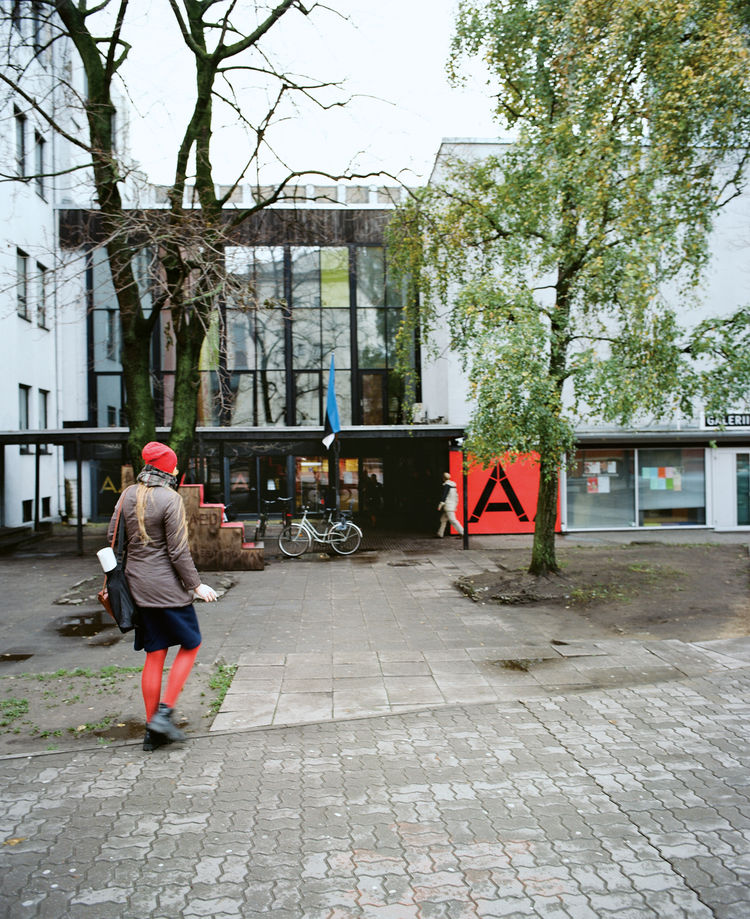 The students at the Estonian Academy of Arts, an influential design force, readily interact with the public, who can view their works in the lobby.