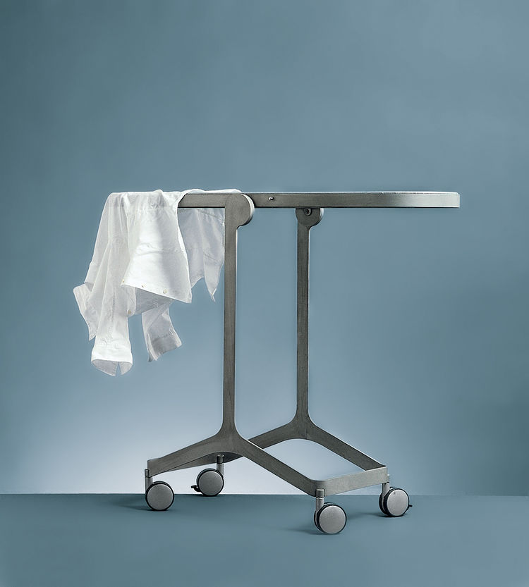 The aptly named Mirror/Ironing Board acts as a full-length mirror and also locks into place as an ironing board.