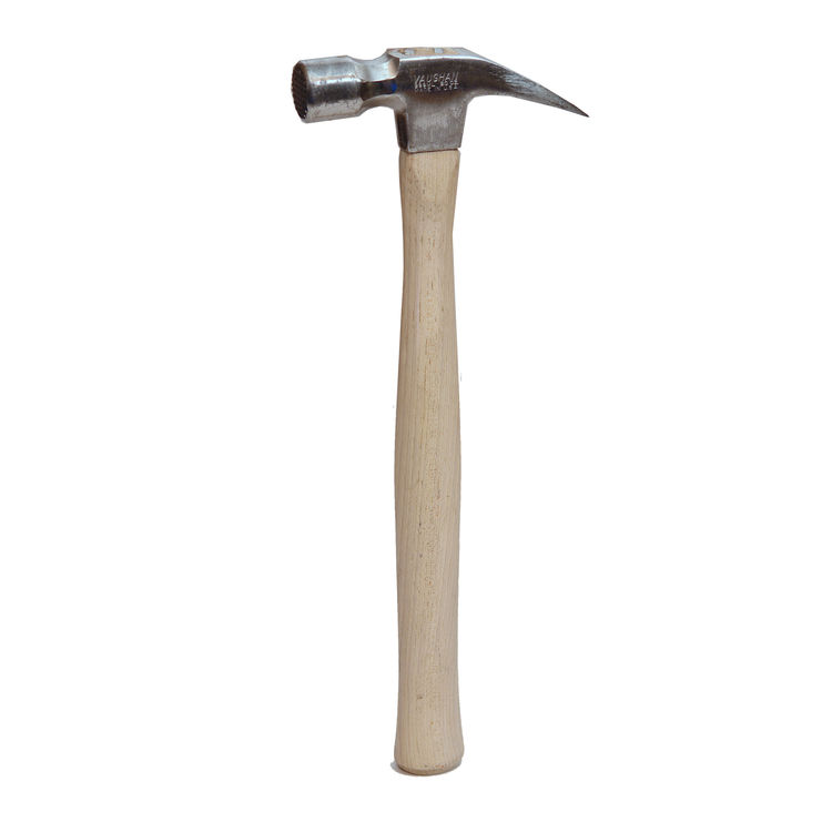 "I've worn out at least 10 Vaughan ""999"" framing hammers since the 1970s, which is a compliment. I love their perfectly balanced forged-steel heads and their hickory handles, which are skinny just below the head to impede shock waves, swell in the middle t"