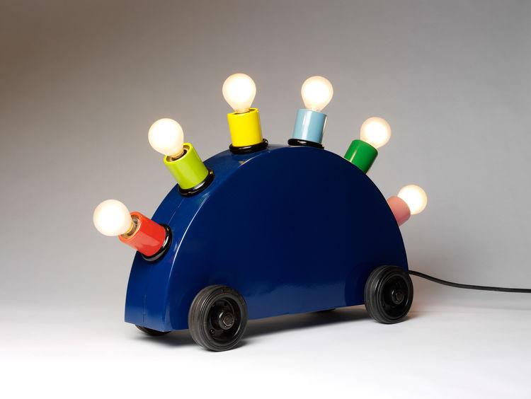 """Super Lamp"" Martine Bedin. © V&A Images. Painted metal, lighting components."