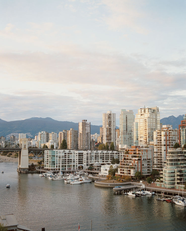 With the Coast Mountains in the background and the Strait of Georgia in the foreground, there's no bad view if you live in one of Vancouver's many midrises.