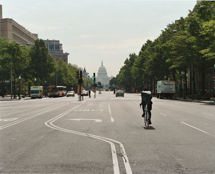 Pierre L'Enfant's city plan adores grand vistas, like this one on Pennsylvania Avenue NW.