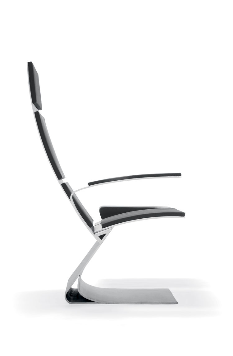 Ten-percent of Sobek's projects are related to industrial design, such as the Airport Chair.