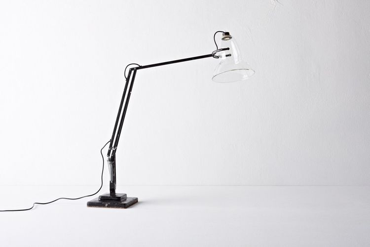 "Wilson also updated the classic British Anglepoise lamp with a fine transparent glass lampshade and a nearly invisible low-power LED light source. He'll start producing this in a limited-edition soon, with models available on <a href=""http://www.henry-wil"
