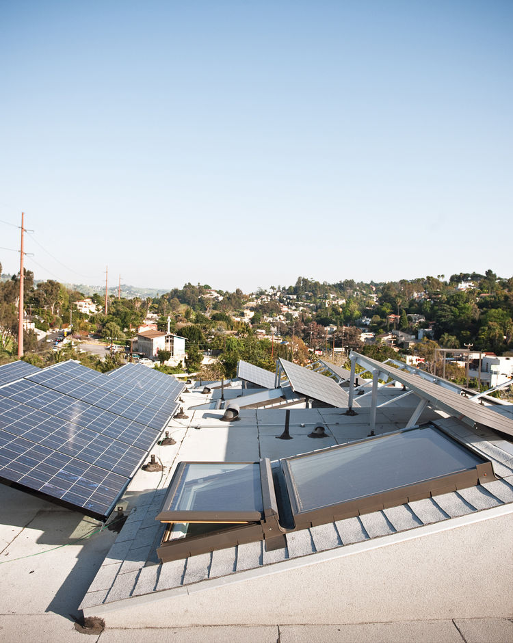"""All but one homeowner at Auburn chose to install solar panels supplied by Buel Solar on the """"solar-ready"""" roofs."""