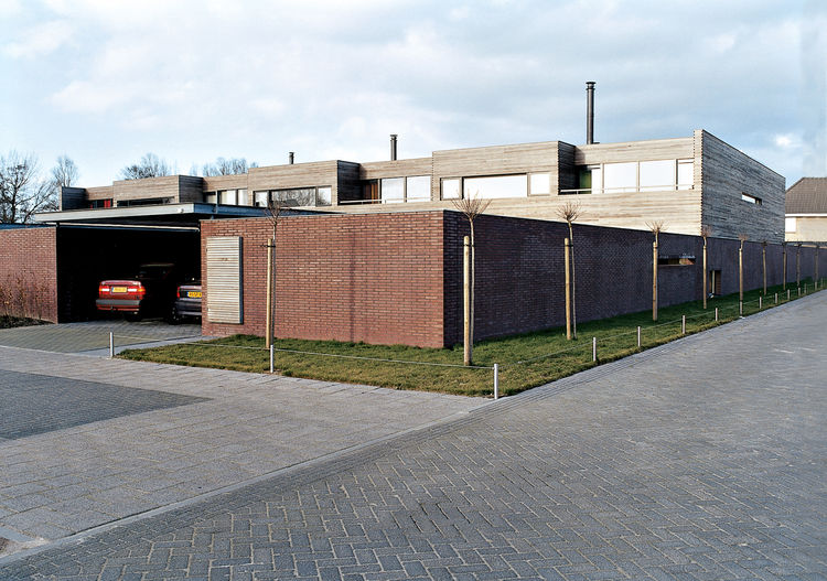 Architect Pascal Grosfeld designed seven houses on this plot of land in suburban Holland. The Collettes worked closely with him to make their residence distinct from the neighboring houses and more in keeping with their personal vision of home.