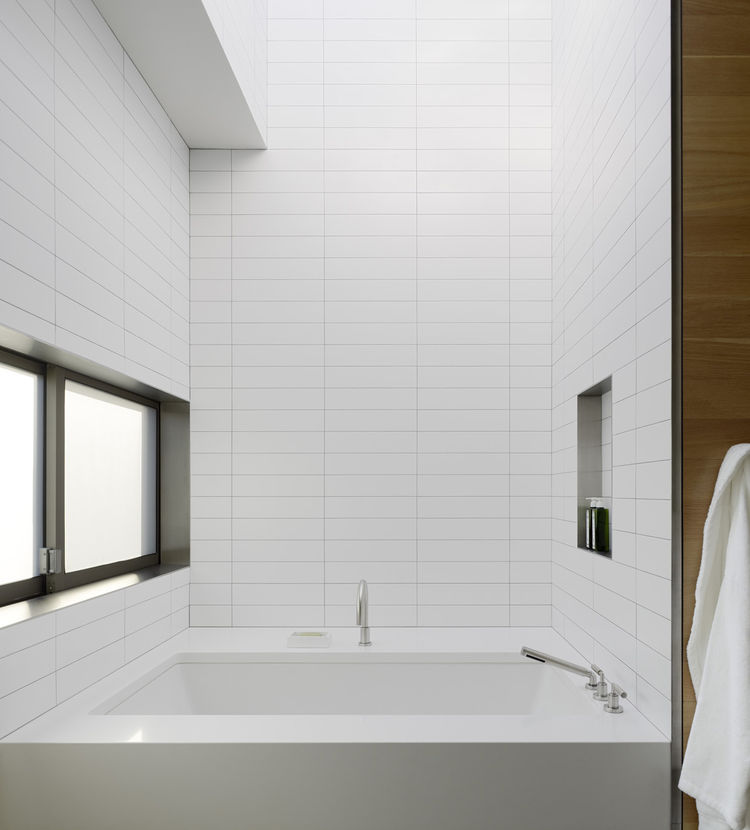 The bathroom also reflects the same attention to detail and finishing as the rest of the house.