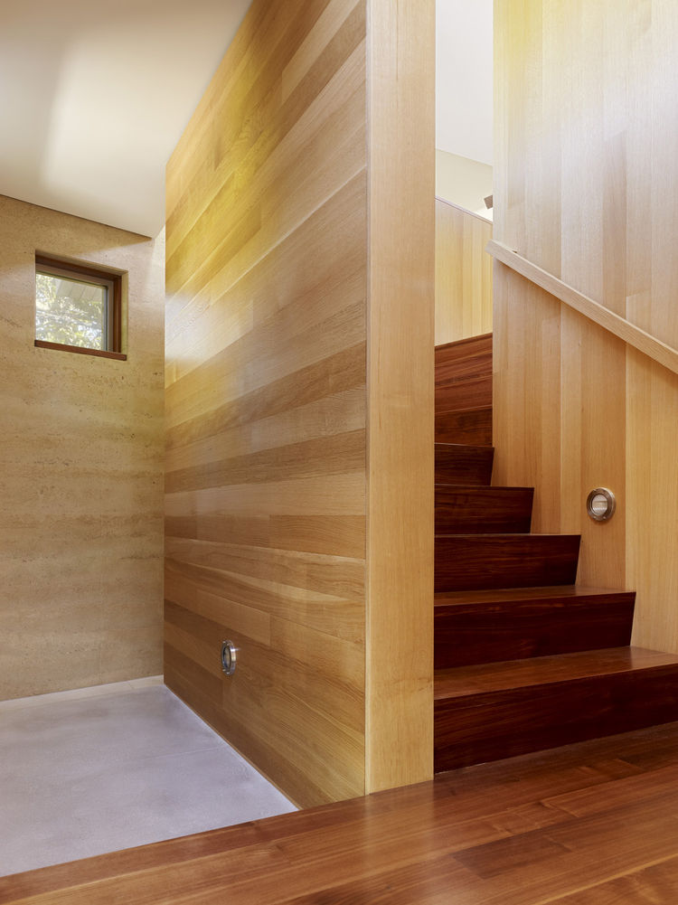 The wooden flooring shown here is American walnut.