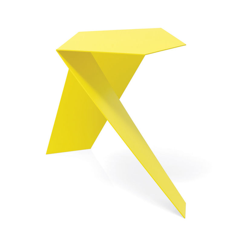 yellow Ply side table by Ronan Copia of Axthor