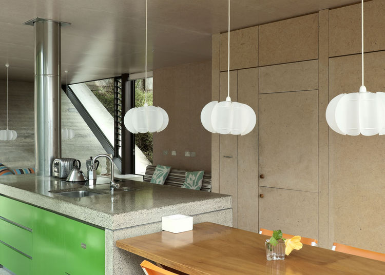Kitchen Decor in modern house including a MDF Island