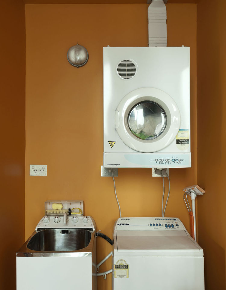 Modern laundry room in a small space