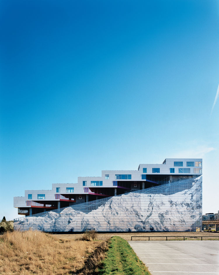 Completed in 2008, the Mountain Dwellings is the second of BIG's three projects in Ørestad, a new neighborhood in Copenhagen where development is attracting many new inhabitants. The result does looks like a mountain—hence the building's name and the insp