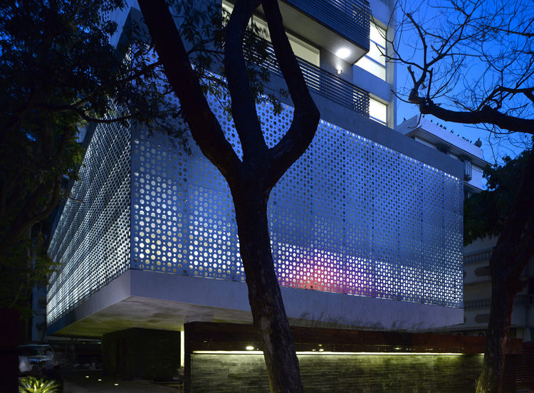 Perforated aluminum exterior, Mumbai, India