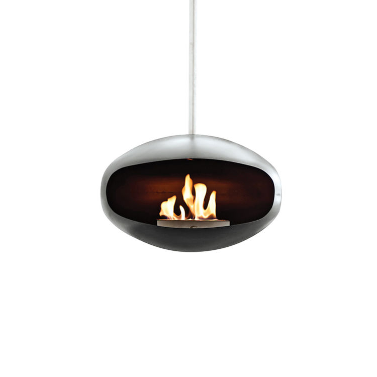 Aeris fireplace by Federico Otero for Cocoon Fires