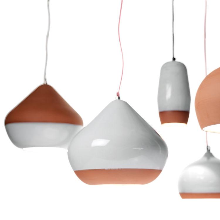 organic Terracotta Pendant lamp by Hand & Eye Studio