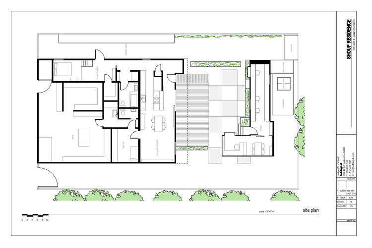 "The plan of the Shoup residence designed by Stephen Shoup of <a href=""http://www.buildinglab.com/"">building Lab inc.""</a><br /><br /><p><em><strong>Don't miss a word of Dwell! Download our </strong></em><a href=""http://itunes.apple.com/us/app/dwell/id4117"