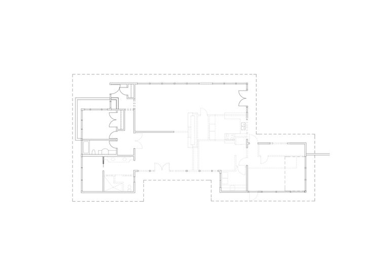 The floor plan, before renovation.