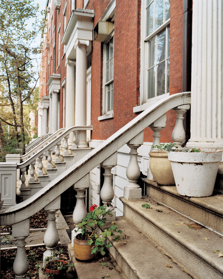 "The façades of the Greek Revival town houses that comprise ""the Row,"" on Greenwich Village's Washington Square, still evoke pre–Gilded Age New York. Within, however, modernity prevails."