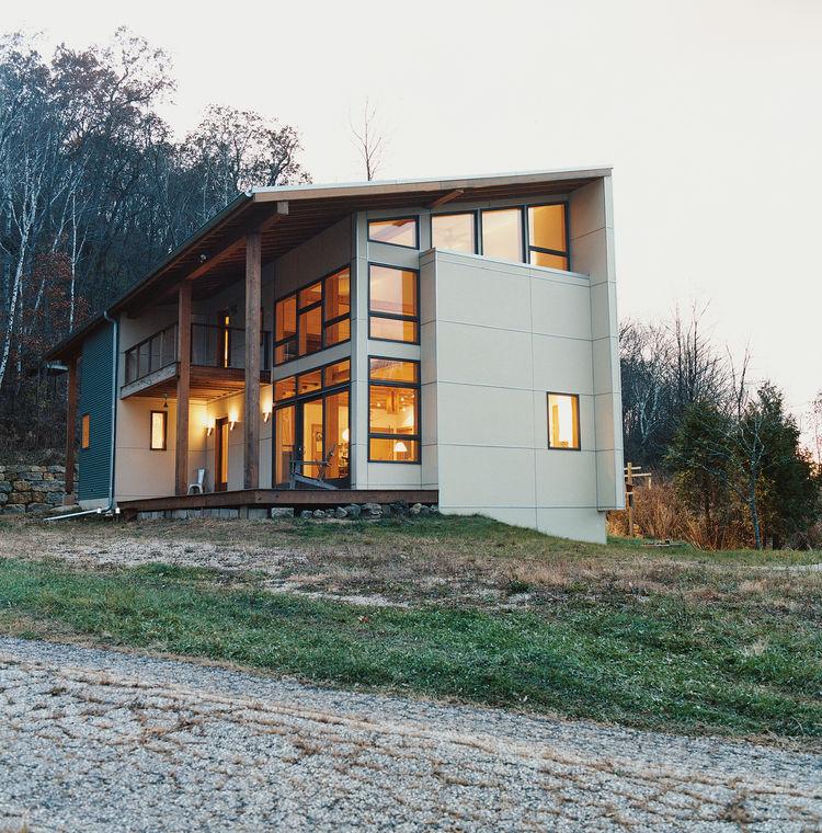 Modern house in Black Earth, Wisconsin