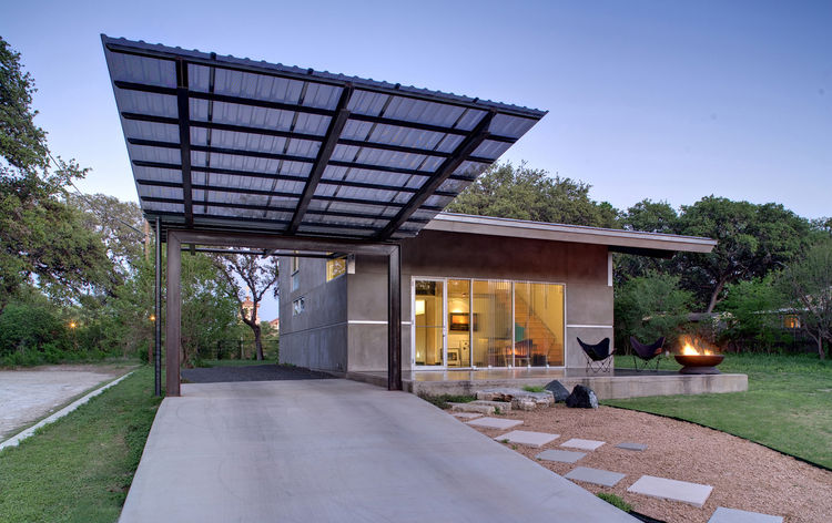 Steel carport in Austin, Texas