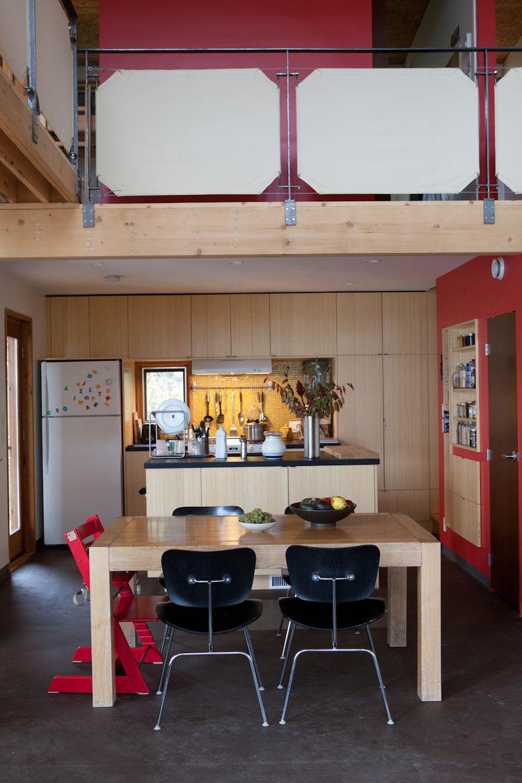 Urban minimalist kitchen dining room
