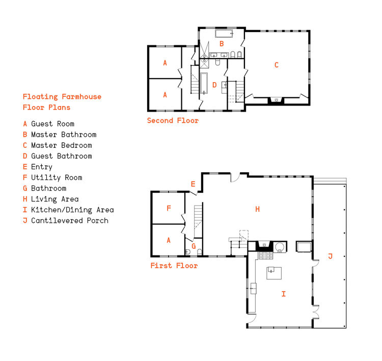 Floating farmhouse eldred, new york floor plan