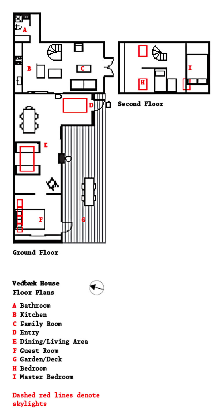 Vedbaek house renovation floor plan