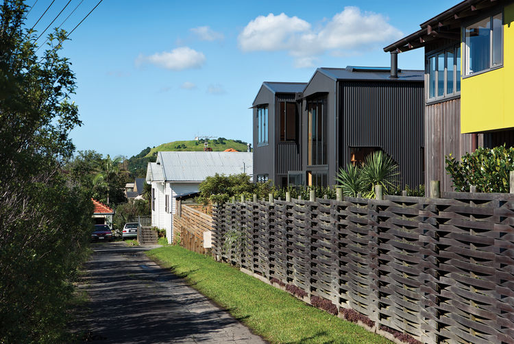 Aluminum-clad home with pitched roof in New Zealand