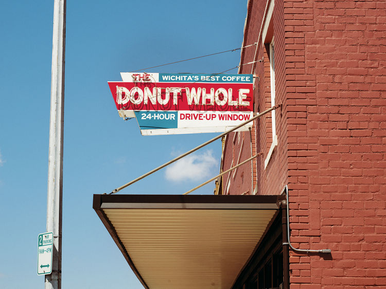 Exterior view of the Donut Whole in downtown Wichita