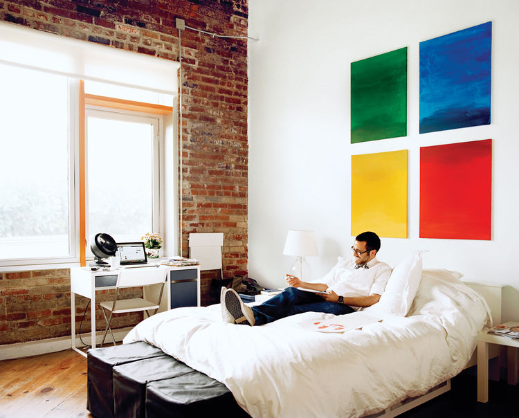 Portrait of Jamil Malone in loft J of the Finn Lofts