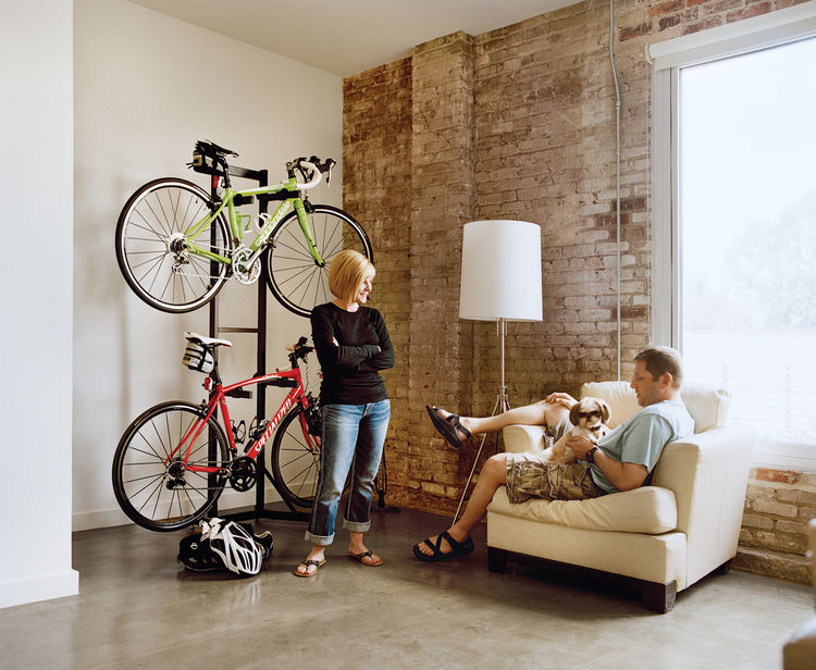 Portrait of Melissa and Keith Bishop in Loft B of the Finn Lofts