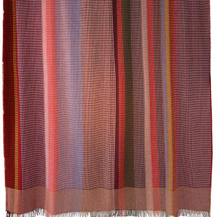 multicolored bloomsbury weave throw