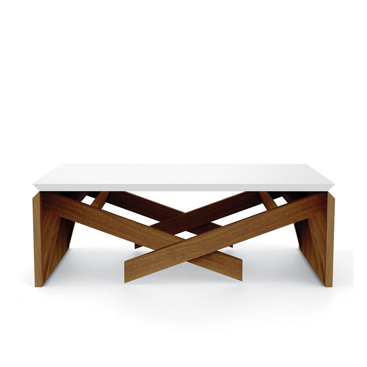 coffee table that morphs into a dining surface in two simple motions