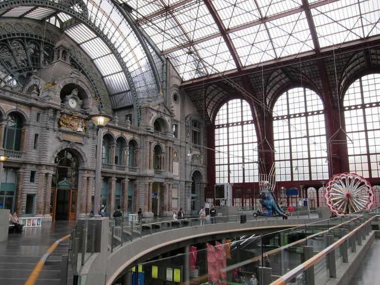 The Antwerpen-Centraal train station, designed by Louis Delacenserie
