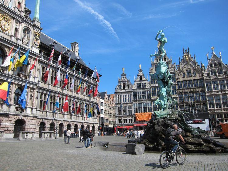 16th-century Grote Markt in Antwerp, Belgium