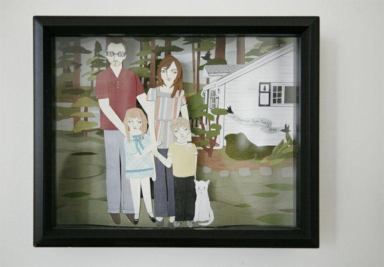 Family portrait by Sarah McGowan