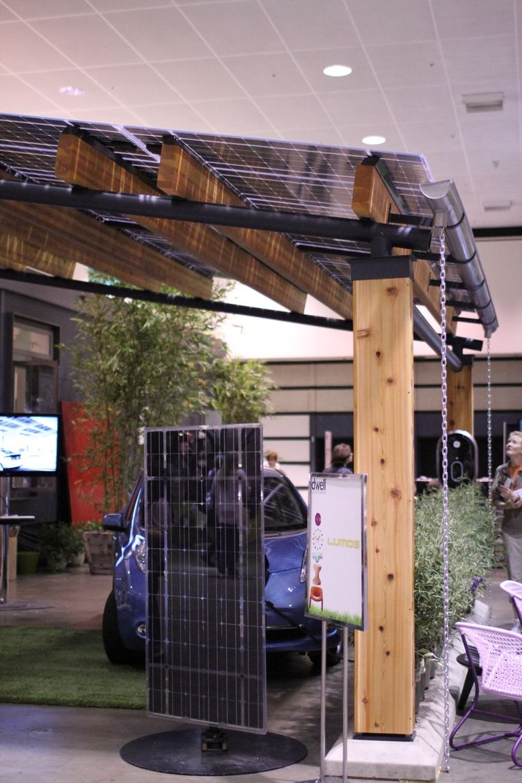 Solar panel at Dwell on Design 2012