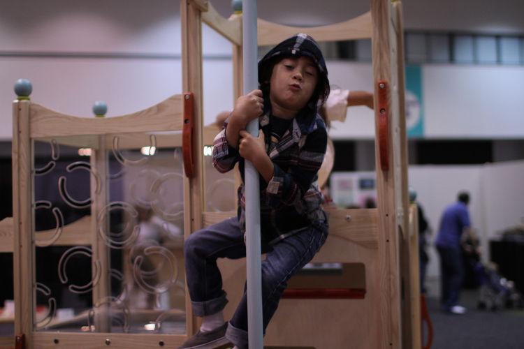 Playground pole at Dwell on Design 2012