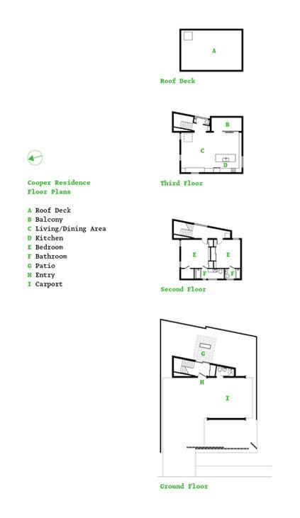 Cooper Residence floor plans